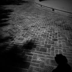 Negative Space: #21 (DrCuervo) Tags: 21 seattle seattlecenter sunny iphone blackandwhite monochrome simplybwapp negativespace shadow