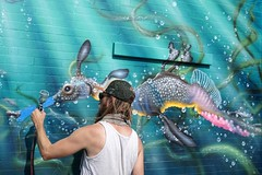 Jason Brammer #underwaterbeauty #sheddaquarium (drew*in*chicago) Tags: street art artist chicago 2018 graffiti color outdoor paint painter mural tag