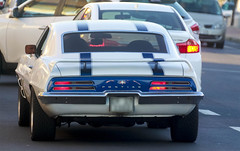 1969 Pontiac Firebird stuck in Traffic (Arranion) Tags: car road pontiac blue stripes v8 oldschool vintage muscle sports racing canon eos 450d sigma 170500mm retro playboy