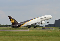 N428UP Boeing 757-24APF UPS Airlines Take-off at Stansted June 2018 (Conor O'Flaherty) Tags: n428up ups cargo freighter freight stansted stn takeoff aviation jet plane boeing 757 752 757200 757f 75724apf