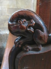 Stamford - St John the Baptist Church (Glass Angel) Tags: benchends poppyhead pews choirstalls woodcarving stamford lincolnshire stjohnthebaptistchurch churchconservationtrust