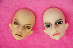 So different. Old Yellow and Old Normal Skin (Empty_Child) Tags: bjd dollchateau mephisto mephistopheles