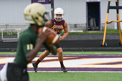 Tracking the QB (AppStateJay) Tags: 7on7 athlete athletics football game games gryphons hendersonville highschool june2018 northhendersonville owen sport tjca thomasjeffersonclassicalacademy nikon d500 tamron70200mmf28dildifmacro tamron70200mmf28