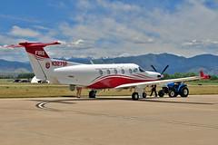 Pilatus PC-12/45 N327SF (skyhawkpc) Tags: copyright allrightsreserved gverver airshow nikon longmontairportexpo 2018 vancebrandmunicipalairport longmont co klmo lmo aviation colorado division fireprevention pilatus pc1245 511 n327sf