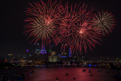 Pittsburgh's Fireworks (dxd379) Tags: pittsburgh pa pennsylvania ohioriver nikon d7100 4thofjuly fireworks night photography city long exposure independenceday