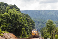 Across State Lines (nrvtrains) Tags: christiansburgdistrict glenlyn coal norfolksouthern unionpacific load 768 virginia unitedstates us