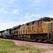 UP 7928 Leads Covered Hopper Hampton, IA 6-23-18