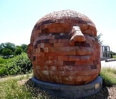 """""""Groundwater Colossus,"""" a.k.a Clanging Head of Bricks by James Tyler, Lincoln (ali eminov) Tags: lincoln nebraska sculptors jamestyler sculptures groundwatercolossus clangingheadofbricks"""