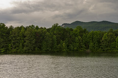 Table Rock Mountain at Lake Oolenoy (rschnaible) Tags: table rock state park outdoors landscape lake oolenoy water moutains blue ridge south carolina the trees forest woods