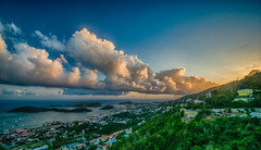 Miscalculation (tquist24) Tags: caribbeansea charlotteamalie charlotteamalieoverlook hdr nikon nikond5300 outdoor skylinedriveoverlook stthomas usvirginislands virginislands city clouds evening geotagged hill hills island islands ocean sky sunset tropical view water