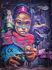 She's got that look (Jim Nix / Nomadic Pursuits) Tags: chicago illinois travel jimnix nomadicpursuits iphone7plus iphone luminar2018 graffiti girl dog paint spraypaint tagger urbanart