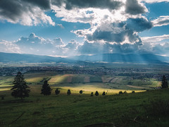 Sun rays (Pásztohy) Tags: landscape clouds shadows trees mountains villages 365 project