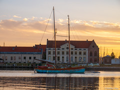 Old ship (✦ Erdinc Ulas Photography ✦) Tags: hoorn old ancient traditional blue gold nederland netherlands panasonic sail wood water clouds sky landscape house roof sun people window kuvera harbour city dutch reflection focus