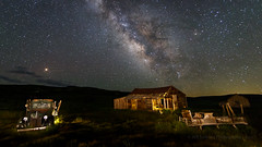 Bodie's 1940 Ford Commercial At Night (Jeffrey Sullivan) Tags: 1940 ford commercial green truck bodie state historic park abandoned wild west ghost town night photography workshop canon eos 6d digital photo copyright 2018 jeff sullivan july 7 light painting milkyway stars dark sky ruraldecay