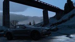 Mustang | GTA V (Stellasin) Tags: angeles gaming game dark darkness car cars beauty beautiful buildings blur city clouds downtown mods weather reflection graphics gta gtav grass hot highway photography sky los mountains night road trees screenshot sun sunrise sunset v