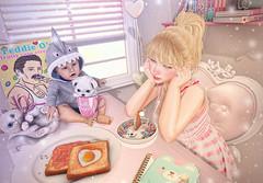 Cereal Killer (Gabriella Marshdevil ~ Trying to catch up!) Tags: sl secondlife cute kawaii doll asian blackbantam gacha arcade pocketgacha pastel monso fameshed food lostjunction halfdeer