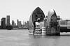 Thames Barrier (Dun.can) Tags: river thames thamesbarrier london monochrome blackwhite theshard shard docklands