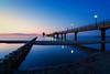 Blue Hour after Sunset No. 2 - Zingst, Mecklenburg-Vorpommern (dejott1708) Tags: blue hour baltic sea long exposure pier zingst diving gondola mecklenburgvorpommern germany