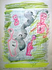 Warten_auf_Graswachsen (web.werkraum) Tags: wartenaufgraswachsen ks 2003 farbzeichnung aufkarton bleistift farbstifte tusche lavage association art artist annotation berlin berlinerkünstlerin karinsakrowski color deutschland dasdasein expression figure figur farbe free flickrnova germany handzeichnung jetzt kramenindenfächern meinberlineratelierab2008beiflickr nahaufnahme now natur omot original tagesnotiz unterwegs vertrautheit webwerkraum blog zeichnung