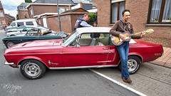 The singer and his car I (thanks for 900k views) Tags: ford fordmustang redmustang singer oldtimer classiccar bmeijers bertmeijers canon
