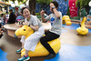 Riding a weird camel in Toon Park (roboppy) Tags: japan tokyodisneyresort tokyodisneyland urayasu chiba toontown toonpark xiangtai robyn