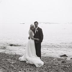 Greece-R1_07 (kiproof) Tags: athens greecemonochrome blackandwhite film ilford hp5 iskra 6x6 120film beach wedding bride groom