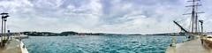 """""""Puerto Mahón"""" (atempviatja) Tags: mar cielo nubes mahón puerto isla menorca océano agua bahía"""