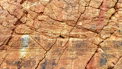 Red rock (zsolt.palatinus) Tags: stone mine stonemine limestone limes redrock redstone surface cracks cc free