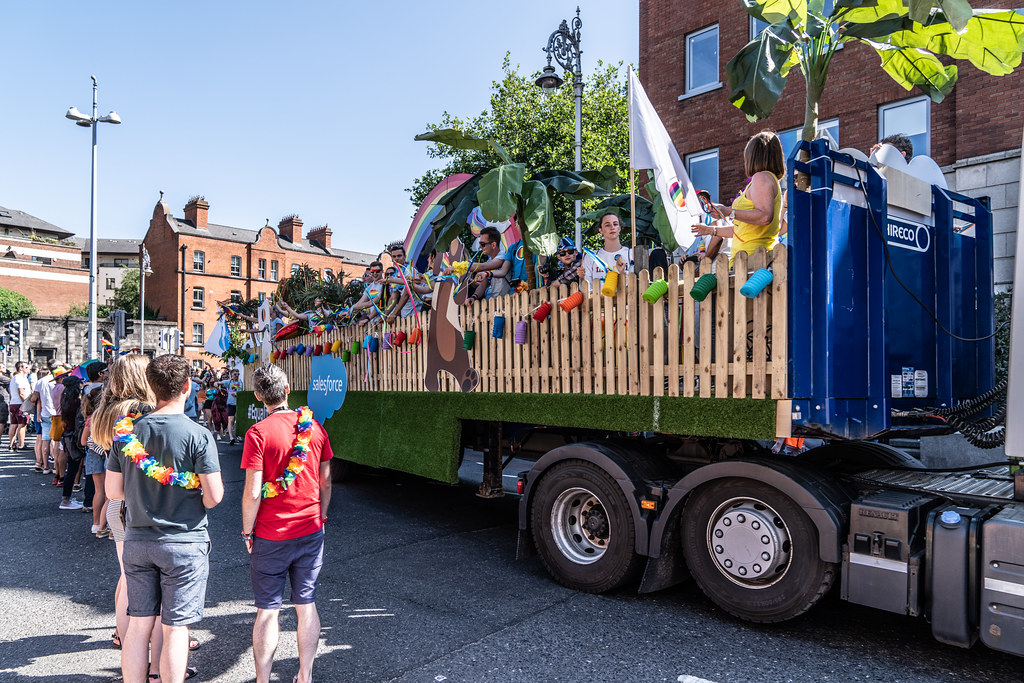 ABOUT SIXTY THOUSAND TOOK PART IN THE DUBLIN LGBTI+ PARADE TODAY[ SATURDAY 30 JUNE 2018] X-100286