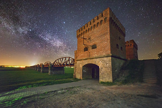 Stars over the old railway bridge
