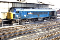 46026 Gateshead 010682 (silvermop) Tags: locos diesellocos class46 gatesheadmpd brbluelocos