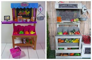 Barbie farm stand repaint