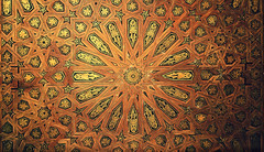 Alhambra Ceiling (Thought Knots Design) Tags: alhambra spain granada palace temple temples castle castles palaces art design graphic sculpture fresco relief bas ceiling walls arch arches archway frame frames door doorway court courtyard moors muslim arabic carving carvings thought knots window spanish espana generalife ruins fortress catholic historic roman myrtles charles v comares mexuar geometry sacred geometric oratory tower dome domes domed nasrid gilded patio hall ambassadors columns pillar pillars