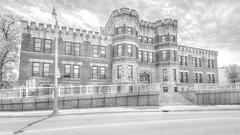 armoury building - guelph, canada (DeZ - photolores) Tags: monochrome bw blackandwhite bnw building architecture hdr downtown guelphcanada nikon nikond610 nikkor nikkor1424mmf28 dez