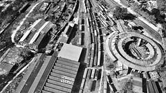 Abandoned (Marcelo Campi Amateur photographer) Tags: train workshop aerial blackwhite winter ww2 street oldcity peñarol montevideo uruguay