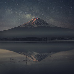 Mt.Fuji with milkyway (chanvitphotographer) Tags: fuji mount japan milkyway tokyo