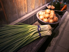 Vegitables in Kyoto (yukky89_yamashita) Tags: 京野菜 京都 kyoto japan vegitables 木屋町 九条ネギ greenonion