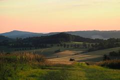 Karst (michaelmueller410) Tags: karst hügel hills wiesen fields meadows felder landschaft landscape sky sunset colorful setting sun abend abendstimmung bäume wald trees forest grass gras harz düna ührde