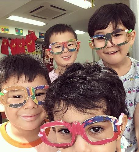 I see you crystal clear ✨ #kindergarten #preschool #daycare #artsandcrafts #optometry #glasses #保育園 #幼稚園 #メガネ #芝公園 #東京 #英語育児 #英語