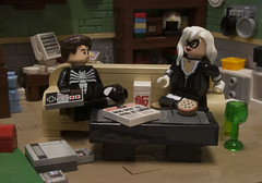 Date Night (Ben Cossy) Tags: the black cat spiderman spider man peter parker daily bugle newspaper apartment roomcouch nes christo sdcc comic mcu marvel comicbook lego afol tfol moc