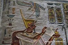 Painted on the tomb wall (konde) Tags: ramsesiii shenring deities 20thdynasty newkingdom relief hieroglyphs ancientegypt muinainen hautamaalaus hieroglyfejä valleyofthekings luxor kv11 tomb cartouche offering treasure art ankh