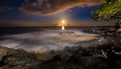 IMG_5378 (Greg Meyer MD(H)) Tags: moonset reflection ocean hawaii wave timeexposure longexposure nightscene calm mystical peace