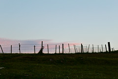 Fences against a pink sky (rubenfriis) Tags: isleofeigg072018 scotland sunrise silhouette pinksky light canon eos1300d 55250mm