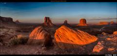 Sunset at Monument Valley (Utah) (episa) Tags: july32018 utah sonya7rii sonyzeiss35mmf28za sunset monumentvalley panoramastitching