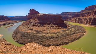 Canyonlands Shafer Trail Colorado River Gooseneck Overlook 02-24-2018