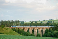 362 ČD, Sázava u Žďáru, R 989 Doubrava (petrdungl) Tags: train vlak bridge nature summer evening léto sázava czech republic landscape krajina