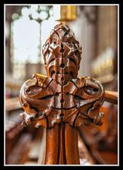 Choir Bench End Detail 2 (veggiesosage) Tags: church stmaryschurch nottingham aficionados gx20 grade1listed