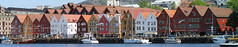 Bryggen Panorama (Sven Bonorden) Tags: bryggen bergen norway norwegen norge hansa hanseaticleague hanse seafront city stadt altstadt oldtown boats ships boote segelboote hafen port giebel houses häuser