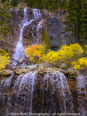 rock falls (light shift) Tags: falls rocks waterfalls banff jasper parkway mountains forest river water summer trees beautiful wow