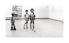 Three Graces (Alexandr Voievodin) Tags: children girls sport rollerskates sportshall training fujifilmxt1